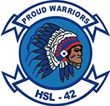 MilitaryBest US Navy HSL-42 Proud Warriors Squadron Decal Sticker 5.5""