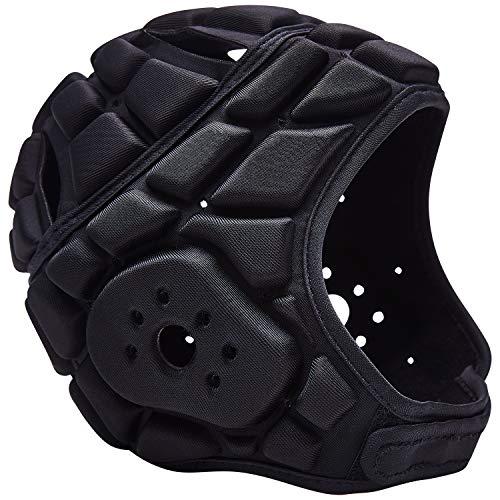 COOLOMG Kinder Kopfschutz Helm Sport Training Rugby Football Torwart Tormann Kopfprotektor Unterstützung verstellbar (Kopfumfang: 45-54cm)