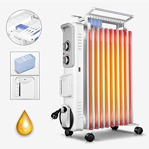 KOKIN oljeelement oljeradiator värmeapparat energisparande radiator med 11 stag 3 värmeledningsnivåer, termostat, överhettningsskydd säkerhetsbrytare