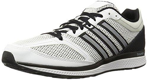 adidas Men's MANA RC Bounce M Running Shoe, White/White/Black, 8 M US