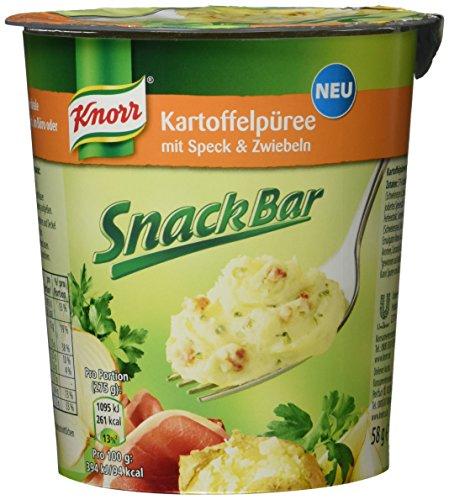 Knorr Snack Bar Kartoffelpüree mit Speck und Zwiebeln, 8er Pack (8 x 58 g)