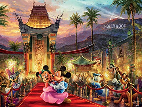 """Ceaco Thomas Kinkade The Disney Collection Mickey and Minnie Hollywood Jigsaw Puzzle, 750 Pieces Multi-colored, 5"""""""