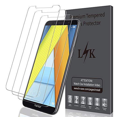 LK 3 Pack Schutzfolie für Huawei Honor 7A Gehärtetem Glas Panzerglasfolie Hartglas Bildschirmschutzfolie