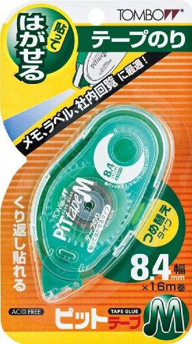 トンボ鉛筆 テープのりピットテープM MK8.4 貼ってはがせるタイプ 5個セット
