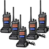Retevis RT76P GMRS 2 Way Radios Long Range, 30CH VOX LCD NOAA Walkie Talkies Adults USB Rechargeable Two Way Radio for Commercial Outdoors (5 Pack)