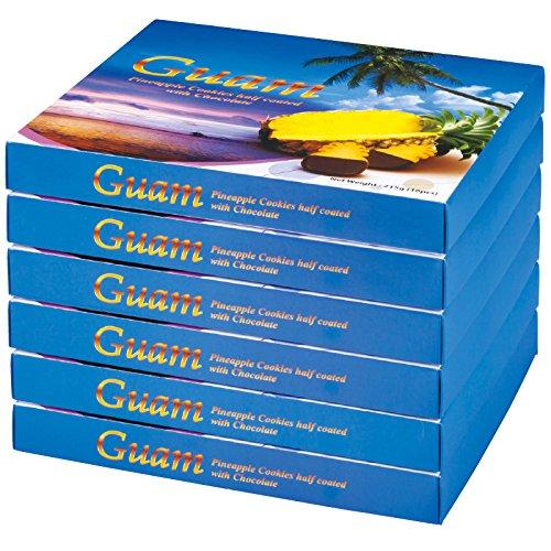 グアム 土産 グアム パイナップルチョコレートクッキー 6箱セット (海外旅行 グアム お土産)