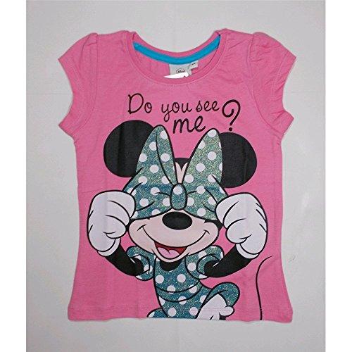 T-shirt t-shirt disney minne manches courte d'été Fille 3/8 ans – oe1611/3 anni 03 rose