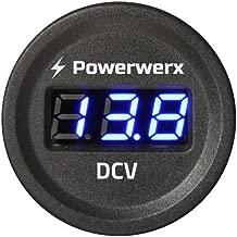 Valley Enterprises Panel Mount Digital Blue Volt Meter for 12/24VDC 5-30VDC Electrical Systems