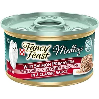 Purina Fancy Feast Wet Cat Food, Medleys Wild Salmon Primavera With Garden Veggies & Greens in Sauce - (24) 3 oz. Cans