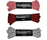 Shoeshine sports shoelace round sneaker shoes laces (Pack of 3) 4mm thick