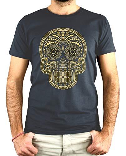 PLANETACAMISETA Camiseta Hombre - Unisex Calavera Mexicana Catrina