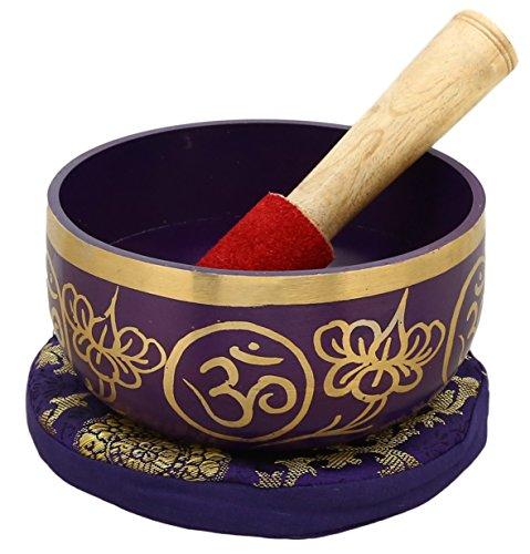 7th CHAKRA SAHASRARA o Corona VIOLETA Budista Fuente con Sonido Para meditación, 12,7 cm