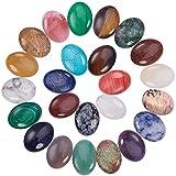 PandaHall Elite und reg Natürliche/Synthetische Edelstein Cabochons, Oval, Gemischter Stein, 25x18x7mm; 25pcs / Box