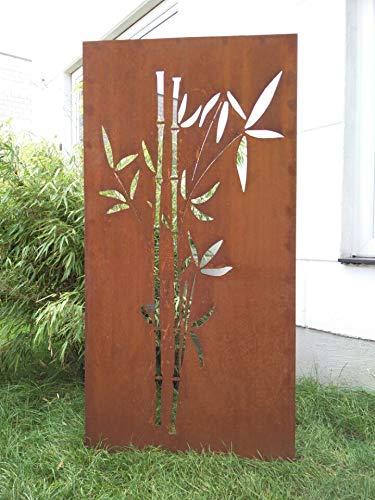 Zen Man Edelrost Garten Sichtschutz aus Metall Rost Gartenzaun Gartendeko edelrost Sichtschutzwand H180*75cm 031663-3
