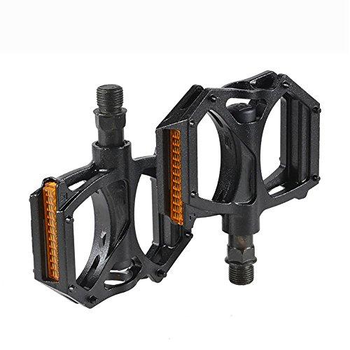 MIAO Aluminiumlegierung Fahrradpedal mit reflektierendem Film Mountainbike Zubehör Fußrasten , black