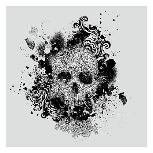Vlies Fototapete Skull Totenkopf Tattoo 192 x 192 cm Quadrat Vliestapete