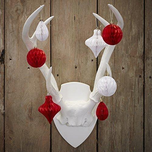 Ginger Ray Bolas navideñas de Panal de Abeja para decoración de la habitación del árbol, Paquete de 12, Papel, Mezclado