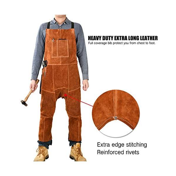 Leather Welding Apron Split Leg for Men 3