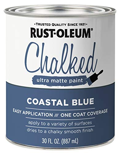 Ultra Matte Interior Chalked Paint 30 oz, Coastal Blue - 1