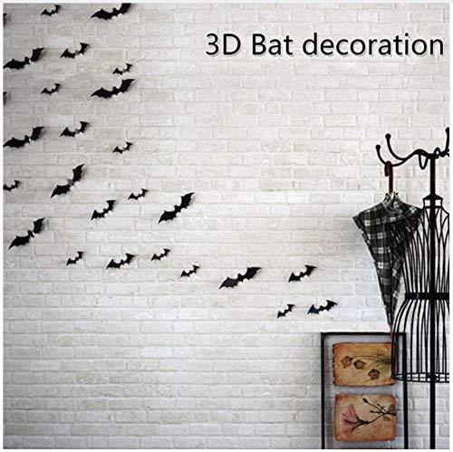 HAJKSDS Wandtattoos Wandbilder 3D Fledermaus PVC Halloween Thema Kunsthandel Explosion Dekorative Aufkleber DIY
