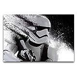 ZSBoBo Póster de soldado blindado blanco, pintura artística sin marco, dormitorio, bar, club, baño, decoración de pared