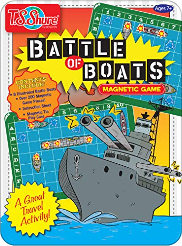 Bendon TS Shure Battle of The Boats Games Mini Magnetic Activity Tin with Illustrated Foam Magnets 50516