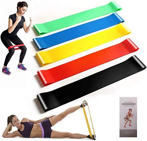 Fitnessbänder 5er Set, Widerstandsbänder aus Naturlatex, Mini Bands, Gymnastikband, Loop Band für Muskelaufbau, Yoga, Gymnastik, Crossfit, Pilates für Männlich und Weiblich
