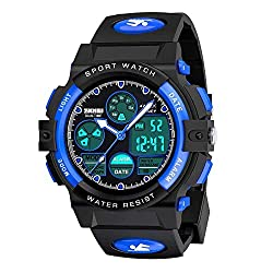 top 10 youth waterproof watch Children's watches for boys 5-12 years old Digital sports waterproof watches for children Birthday …