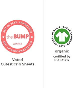 Burt's Bees Baby - Fitted Crib Sheet, Solid Color, 100% Organic Cotton Crib Sheet for Standard Crib and Toddler Mattr...