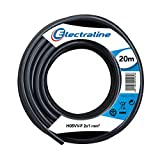 Electraline 11405, Cable para Extension Electrica H05VV-F, Sección 2G1 mm, 20 mt, Negro