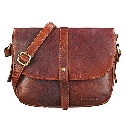 STILORD 'Kira' Umhängetasche Frauen Leder Vintage kleine Handtasche zum Ausgehen Klassische...