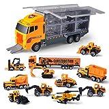 JOYIN Camion Transporteur de Petites Voitures 11 en 1 Moulé sous Pression Voiture...