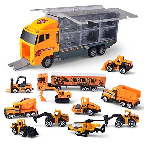 JOYIN Camión de ingeniería 11 En 1 Diecast Coche Juguetes Vehículo de...