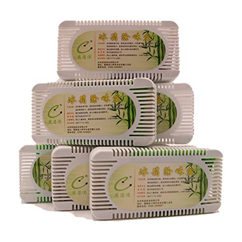 Odor Eliminator Refrigerator Deodorizer(6 Pack),Natural Deodorizer And Moisture Absorber,10 Times More Effective Than Baking Soda Refrigerator Deodorizer,Can Be Used In Refrigerator, Freezer, Bedroom, Kitchen&Lunch boxes,Closet Odor Eliminator