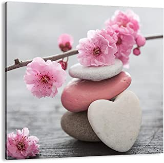 Impression sur toile - Image sur Toile - Un élément - yoga femme fleur santé - 30x30cm - Decoration murale - Décoration - ...