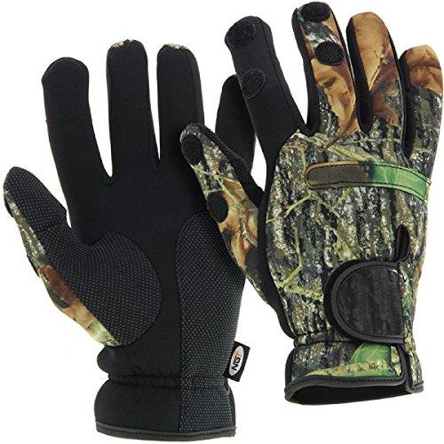 G8DS® Neopren Angel Handschuhe CAMO M-XL Angler Fingerspitzen zum Öffnen (M)