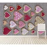Finloveg Große Wandbilder, Kekse Heart Food Tapeten, Wohnzimmer Tv Wand Schlafzimmer Restaurant Küche Tapete Für Wand 3D-400X280Cm