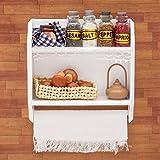 Odoria 1/6 Miniatur Möbel Küchen Hängeschrank Wandschrank mit Flaschen Tassen und Eier Holz Weiß...