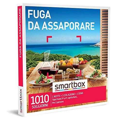 Smartbox - Fuga da Assaporare - Cofanetto Regalo Coppia, 1 Notte con Colazione e Cena per 2 Persone, Idee Regalo Originale
