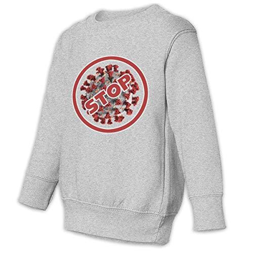 Unbrands Youth 2019-nCoV-stop Coronavirus Warning Cotton Sweatshirts Hoodies Without Pockets