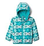 Columbia Kids' Toddler Boys' Mini Pixel Grabber II Wind Jacket, Tropic Water Nostalgia Floral, 4T