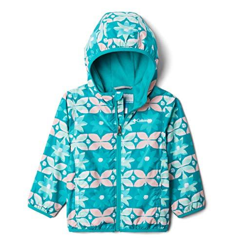 Columbia Kids' Toddler Boys' Mini Pixel Grabber II Wind Jacket, Tropic Water Nostalgia Floral, 2T
