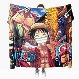 Manta para Sofá de Franela 100x130 cm, Anime One Piece Mantas para Cama Suave - Manta Pelo de Microfibra Transpirable Hipoalérgica, Manta Forro Polar