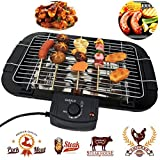 Beini Smokeless Indoor/Outdoor Electric Grill,Household Smoke Free Electric Grill,Portable Tabletop Grill Kitchen BBQ