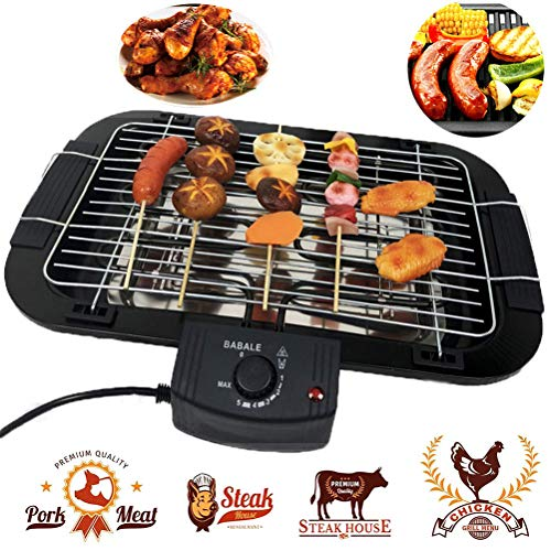 Beini Smokeless Indoor/Outdoor Electric Grill,Household Smoke Free Electric Grill,Portable Tabletop...