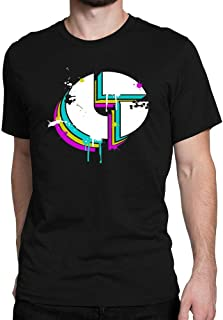 Men's Disco Biscuits Logo Cotton T-Shirt Size