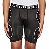 Gilbert Junior de Protection Shorts Rugby, Noir, L