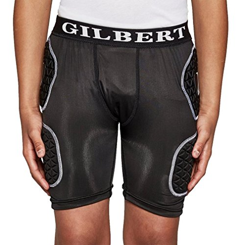 GILBERT Shorts de Rugby con Protección Junior, M Niños