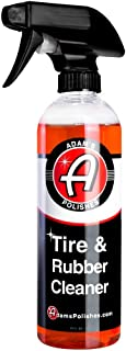 Adam's Tire & Rubber Cleaner (16 oz) - Removes Discoloration From Tires Quickly - Works Great on Tires, Rubber & Plastic T...