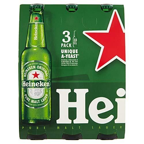 Heineken Birra Bottiglia - Confezione da 3 x 330 ml